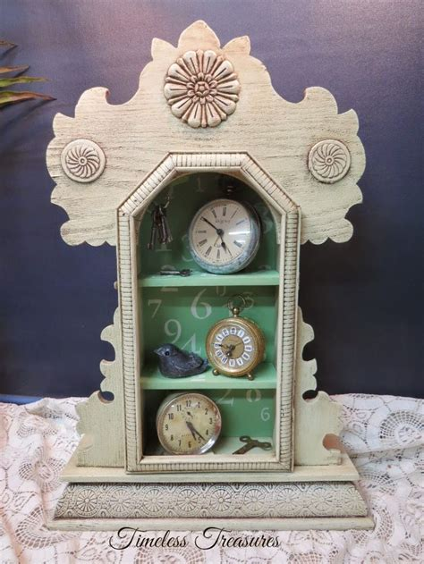 timeless treasures vintage clock case shelf  clocks