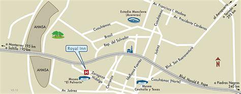 Mapa de Ubicacion Hotel Royal Inn, Monclova Mexico