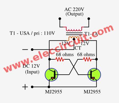 simple inverter circuit diagram   minutes