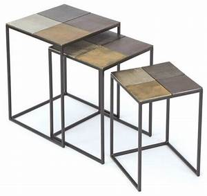 Four square nesting tables rustic coffee table sets for Rustic coffee table and end table set