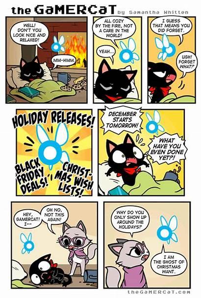 Cat Gamer Gamercat Comics Funny Christmas Comic