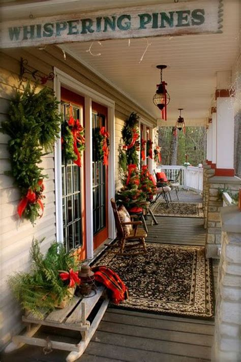 beautiful christmas porch christmas primitive