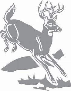 Deer Jumping over Log Pre-cut Patterns