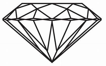 Diamond Drawing Transparent Clipart Background Clip Diamonds