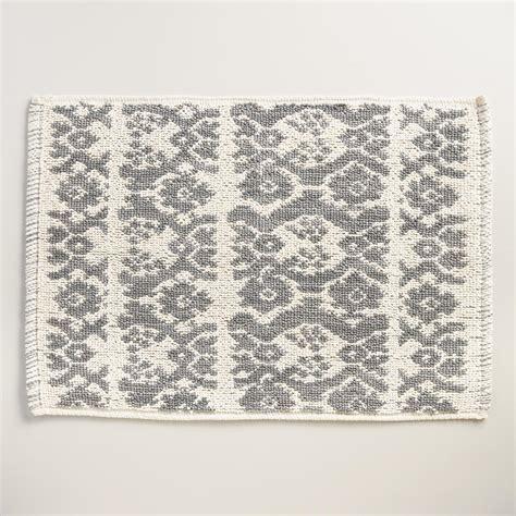 world market bath rugs gray ikat stripe woven bath mat world market