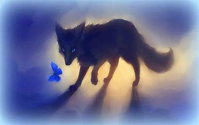 Fox Butterfly Wallpapers Cool Animals Drawings Tablet