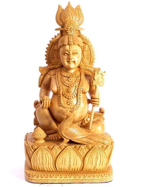 wooden indian god