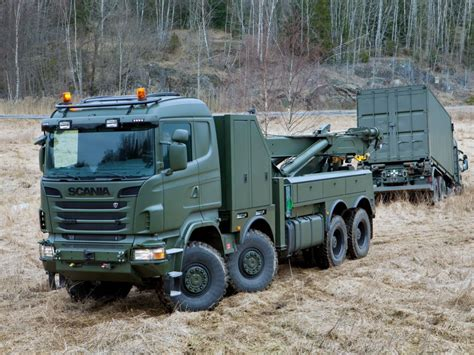 scania   recovery towtruck military semi