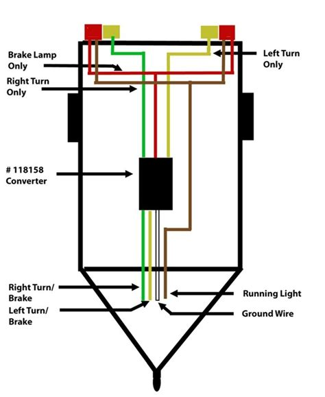 4 Wire Trailer Light Wiring Diagram by How To Wire Up A Trailer With Separate Taillights To A 4