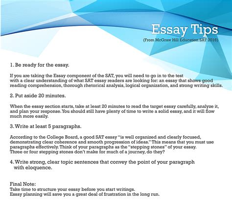 sat tips and tricks essay examples