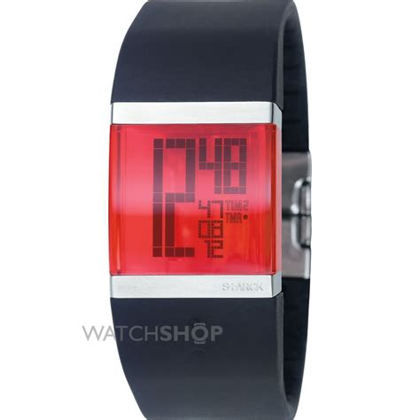 Ladies' Philippe Starck Crystal Clear Digi Alarm