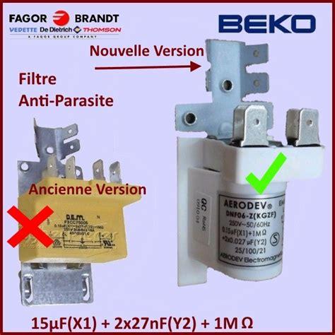 condensateur antiparasite lave linge condensateur 0 15 mf x1 2x27nf antiparasite 18886870100 pour lave vaisselle lavage pieces