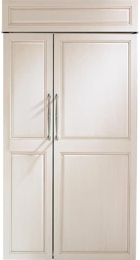zisnnii monogram  built  counter depth side  side refrigerator  led lighting