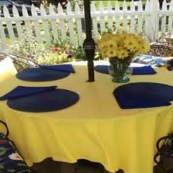 patio umbrella hole tablecloth 72 quot square polyester 72