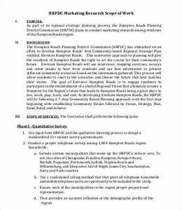 scope of work template 14free pdf documents download With marketing scope of work template
