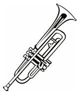 Coloring Pages Trumpet Activities Instruments Musical sketch template
