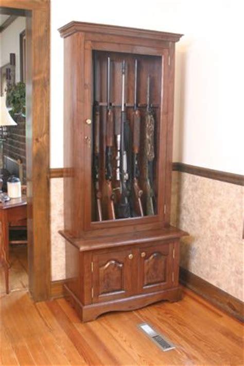build   gun cabinet plans woodworking projects plans