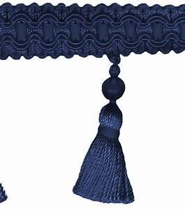 Home Decor Trim-Signature Series 2 5'' Navy Tassel Fringe