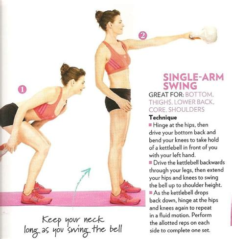 kettlebell single swing workout arm swings exercises bend target routine arms 1000 fitness visit exercise