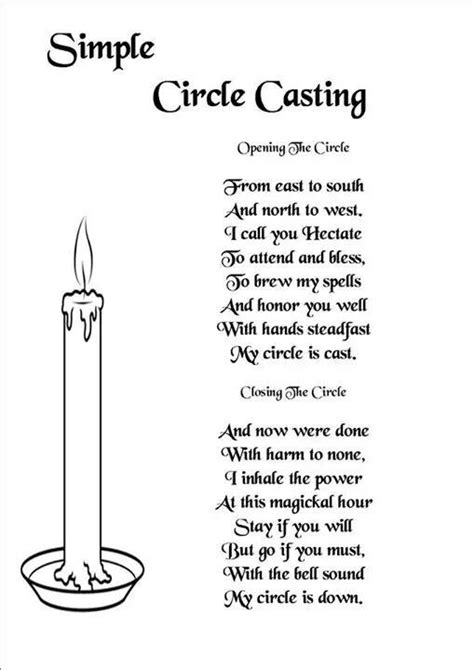 Open and close circle | Witchcraft spells for beginners, Spells for beginners, Wiccan spells