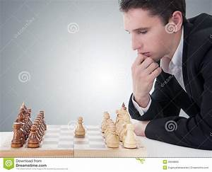 Man Playing Chess, Making The Move Stock Photography ...