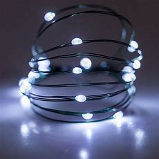 Battery Operated Lights  18 Cool White Battery Operated