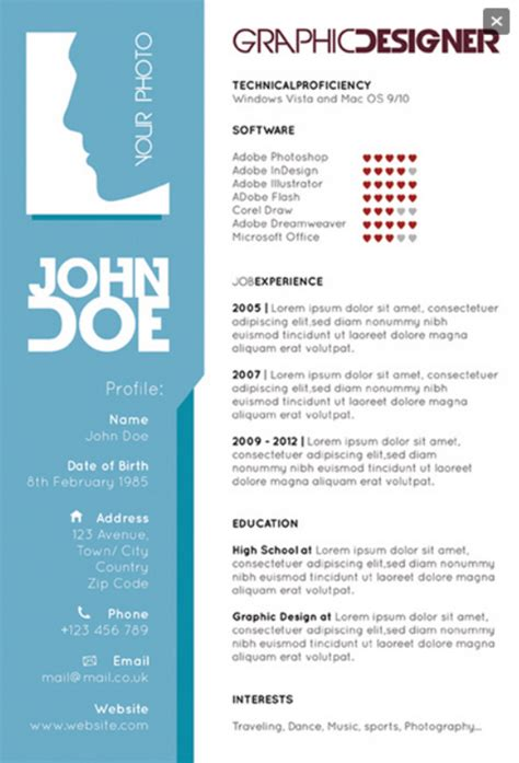 graphic designers single page resume creative resume