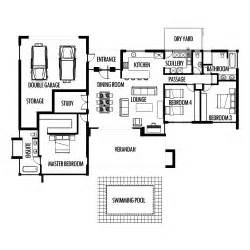 The Bedroom House Plan by 3 Bedroom 285m2 Floor Plan Only House Plans South