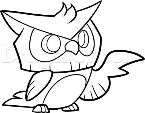 draw  animal jam owl step  step video game