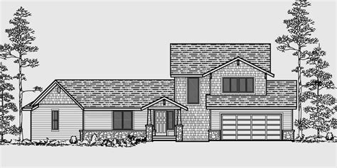 House Plan Front View by Vacation House Plans Two Story House Plans 4 Bedroom