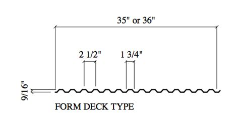 vulcraft deck cad details 9 16 quot form deck act metal deck supply
