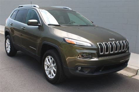 jeep cherokee green 2015 2016 jeep cherokee latitude 4 395 miles eco green