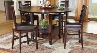 counter height dining room sets landon chocolate 5 pc counter height dining set dining room sets wood