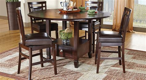 5pc dining table set landon chocolate 5 pc counter height dining set dining