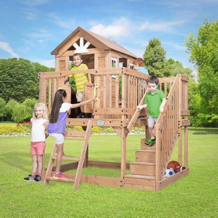 Backyard Discovery Scenic All Cedar Playhouse by Backyard Discovery Scenic Heights Wooden Cedar Playhouse