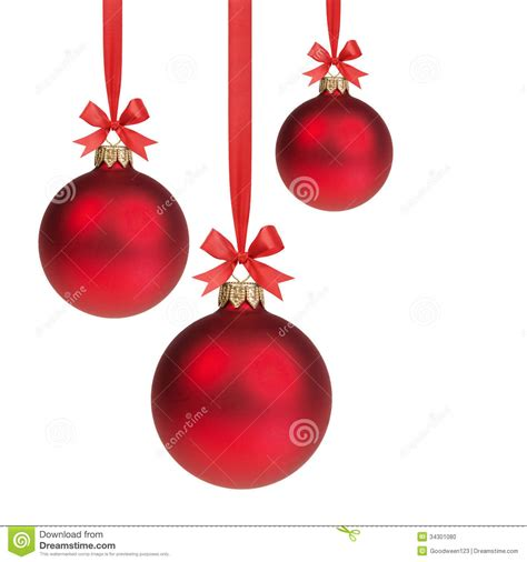 red christmas balls hanging  ribbon  bows