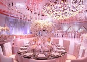 beautiful pink wedding ballroom decoration bridal dress wedding gown planning - Pink Wedding Decorations