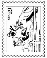 Coloring Stamp Stamps Postage Usps Horse Racing Postal Steeplechase Bluebonkers Template Sheets Activity Collecting Library Clipart Popular Coloringhome sketch template