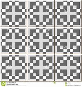 Vintage Seamless Wall Tiles Of Gray Square Mosaic ...