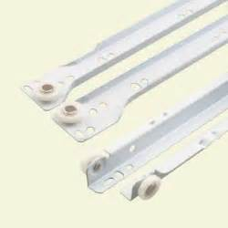 prime line 16 in white bottom mount drawer slides set r