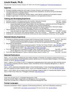 one page resume sle linchi kwok one page resume