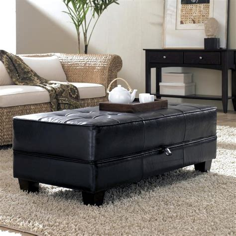 Clear coffee tables are great addition to modern designed living rooms. 35 Amazing Ottoman Coffee Table Designs | Table Decorating Ideas