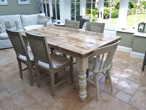 shabby chic dining table and chairs country