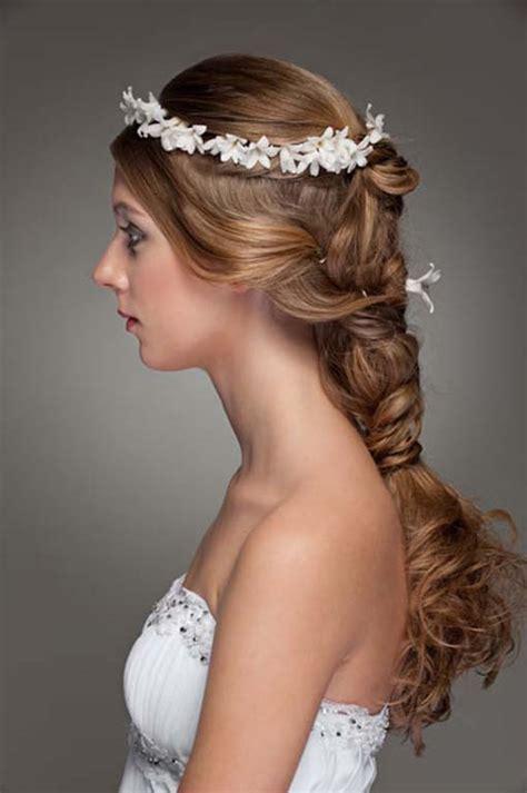 wedding hair wedding braid flower crown the new fashion