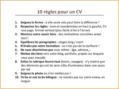 Comment Faire Un Cv 2016 by Comment Faire Un Cv Modele De Cv Simple Aikidobeaujolais