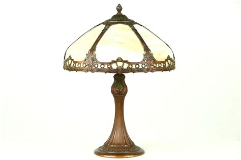 Hand Painted Lamp Shade Sold Stained Glass Antique Carved