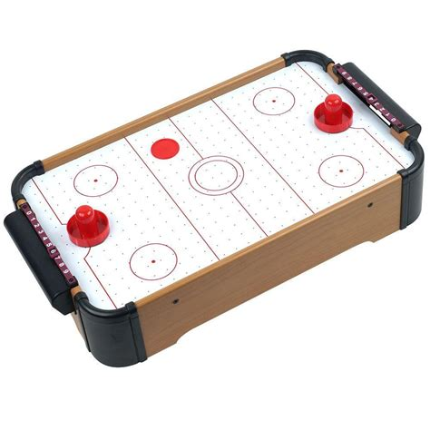 trademark mini table top air hockey table