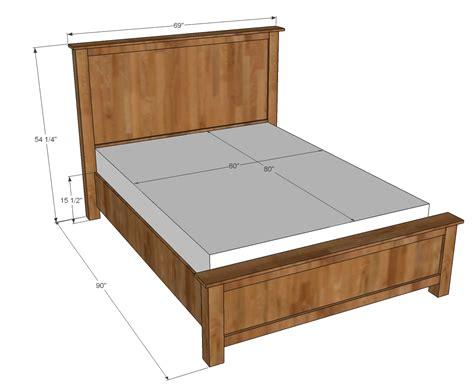queen bed plans bed plans diy blueprints