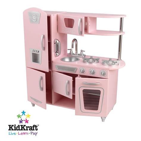 kidkraft retro kitchen kidkraft vintage play kitchen in pink 53179