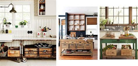 cajas de madera  organizar la cocina